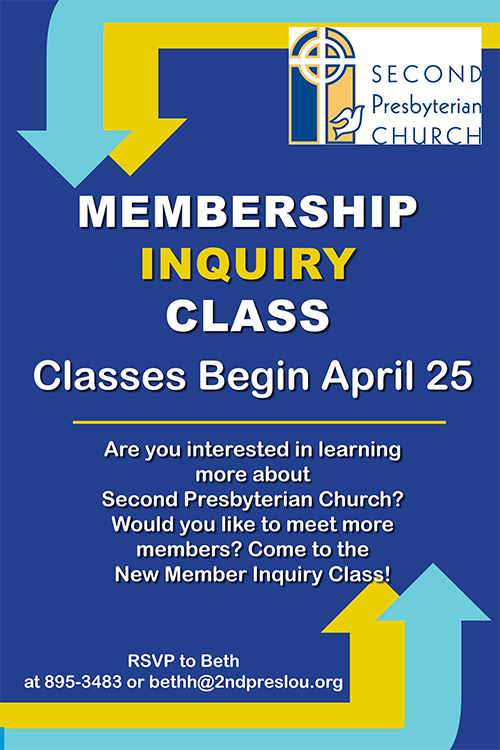 New Member Inquiry Class April 25, 2021